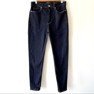BR women's high rise dark blue skinny jean 29